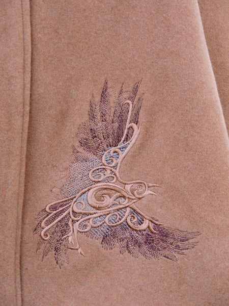 Celtic Cape Raven Cape Embroidered Cape