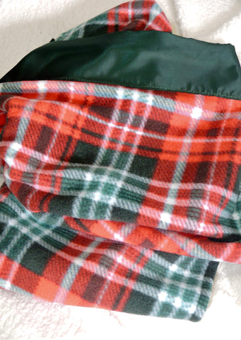 Fleece Blanket with Satin Trim