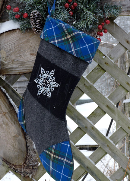 Nova Scotia Tartan Christmas Stocking