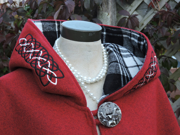 Celtic Wolf Arran Hooded Cape