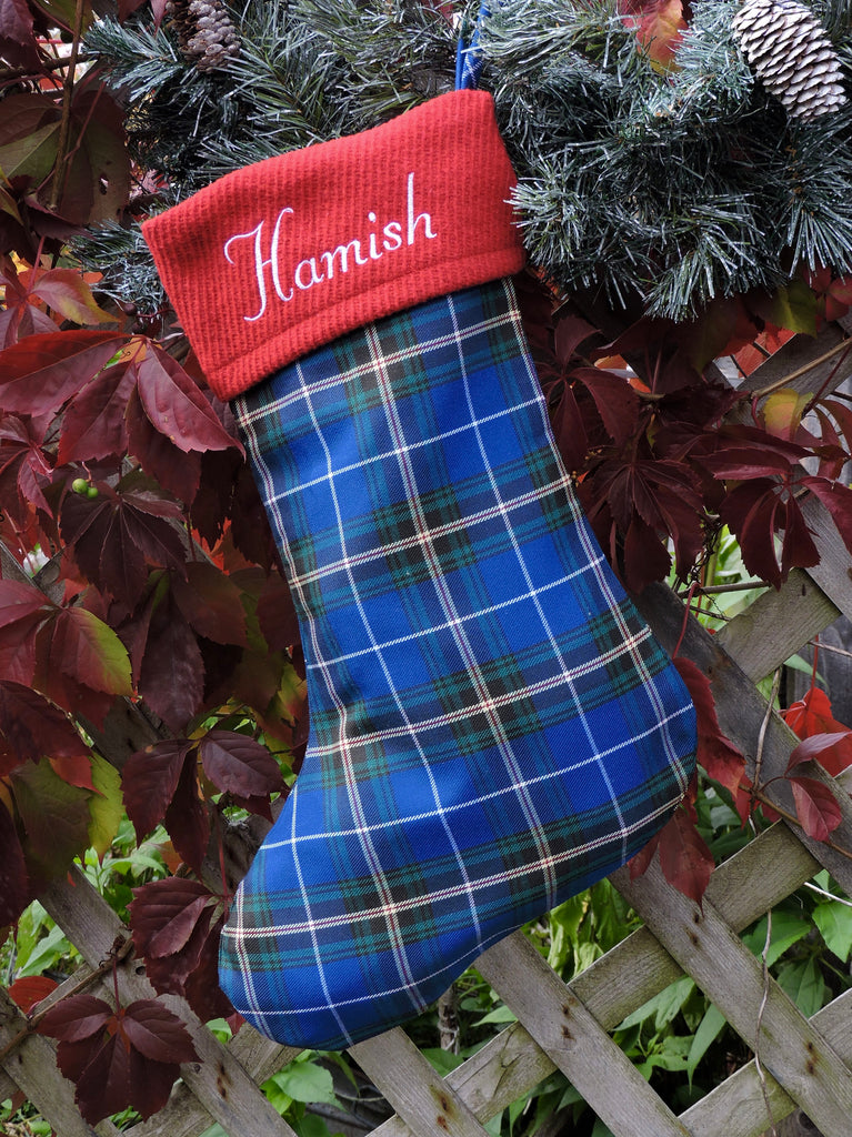 Nova Scotia Tartan Christmas Sock