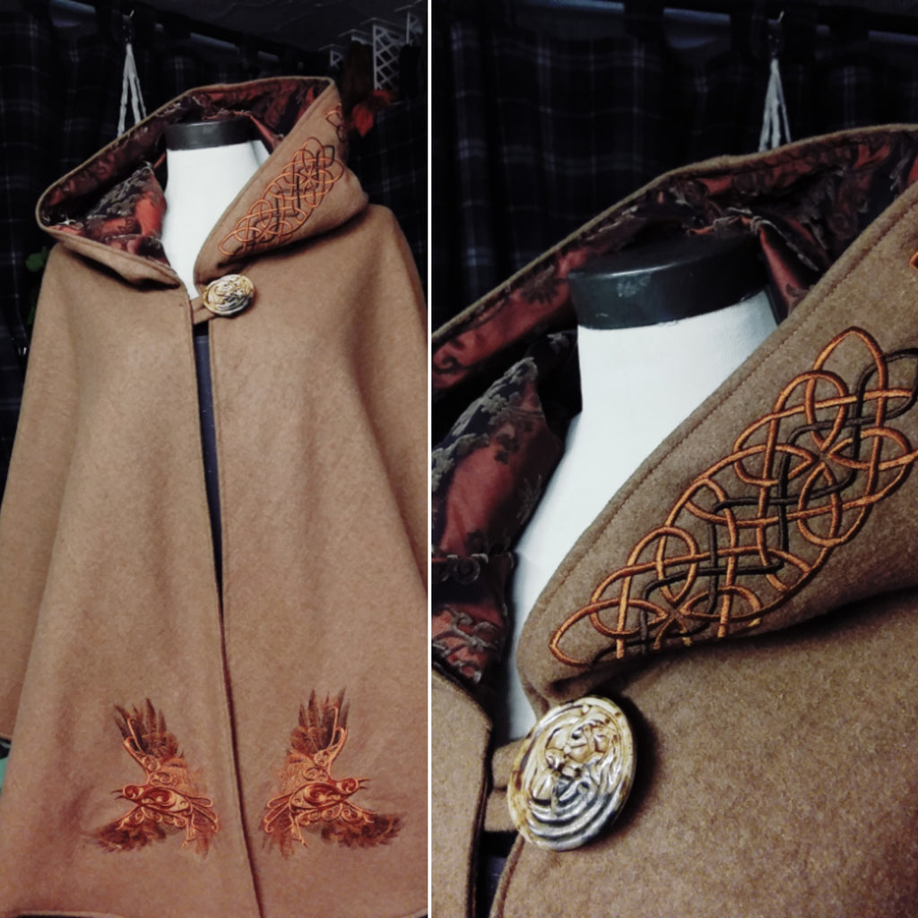 Copper Ravens Arran Hooded Cape