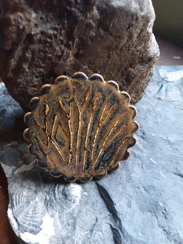 Cattails Brooch