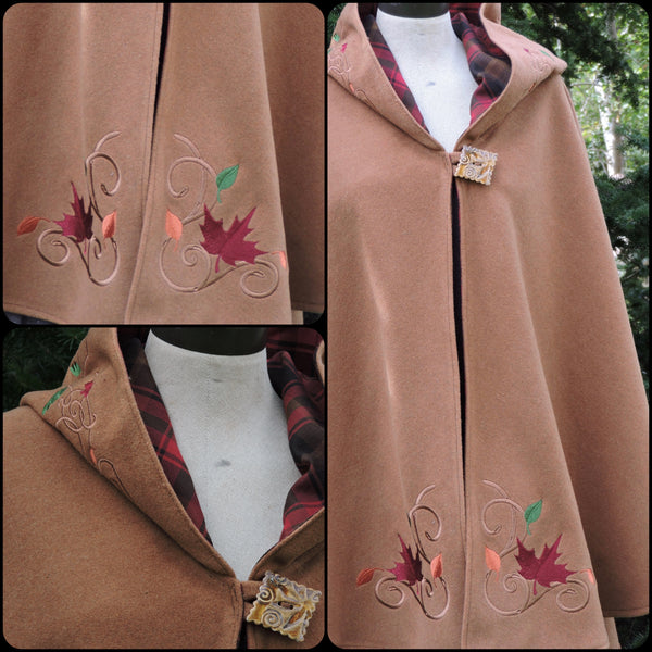 Maple Leaf Arran Hooded Cape