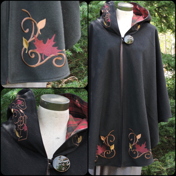 Celtic Cape Maple Leaf Cape Maple Leaf Tartan Arran Hooded Cape