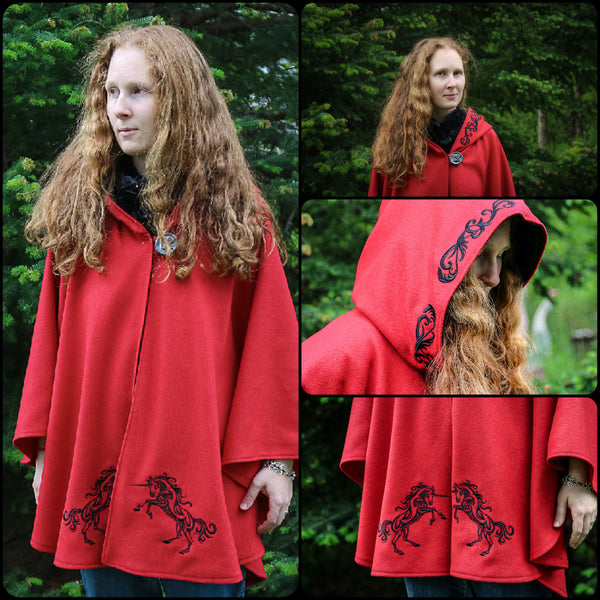 Unicorn Arran Hooded Cape