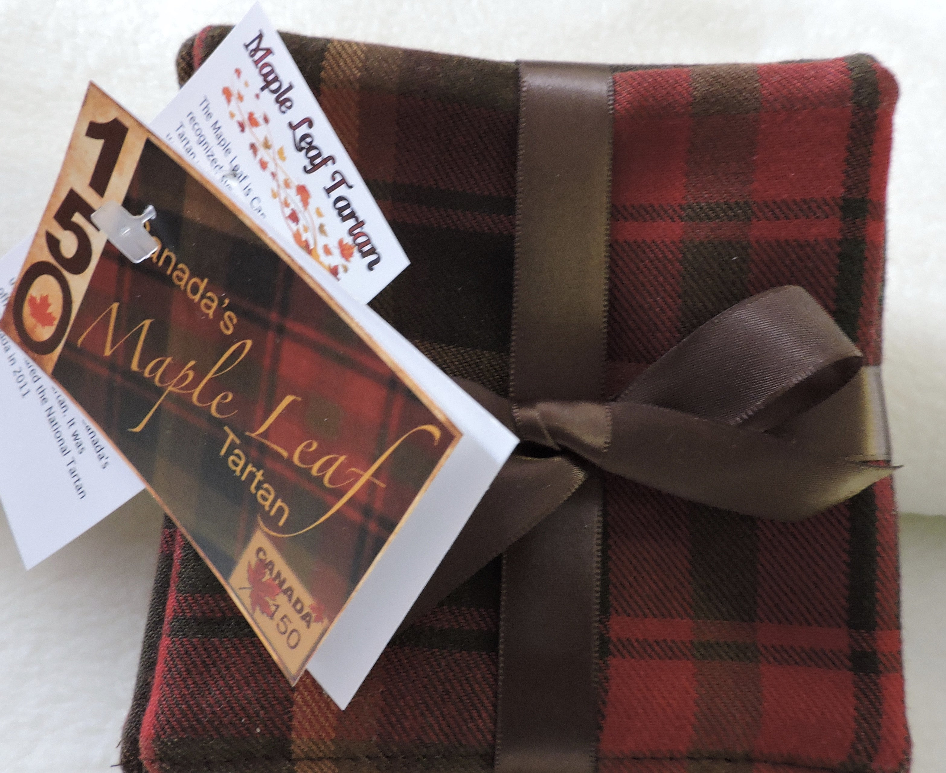 Maple Leaf Tartan Coasters Canada 150