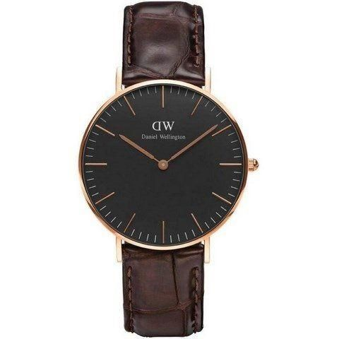 Ur - Daniel Wellington - York - Dameur - Sort/Guld
