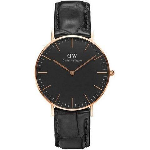 Ur - Daniel Wellington - Reading - Dameur - Sort/Guld