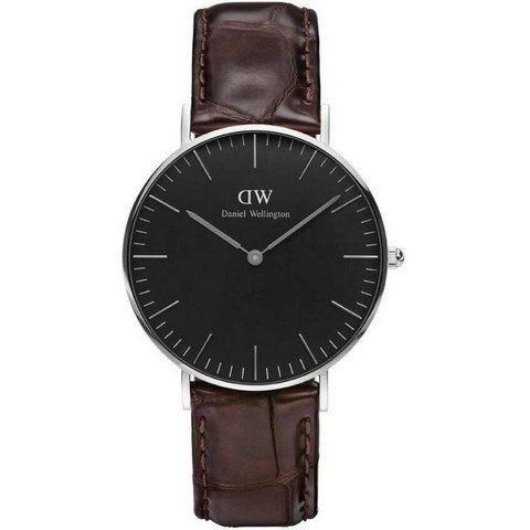 Ur - Daniel Wellington - York - Dameur - Sort/Sølv
