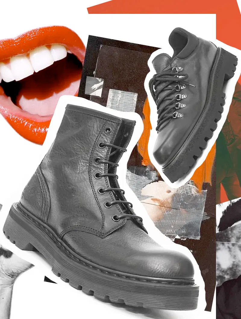 Combat boots! A fashion protest or a must-have footwear trend?