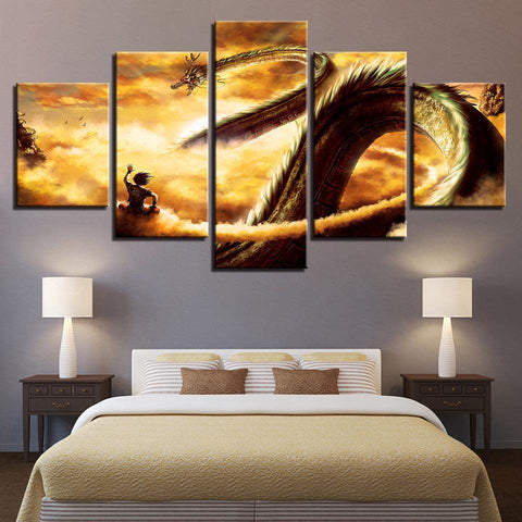 Goku And Shen Long Tam Dragon Ball Z Canvas Art