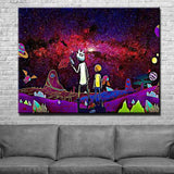 Psychedelic Rick And Morty Canvas Art