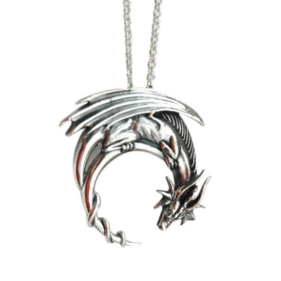 Medieval Dragon Necklace Charm
