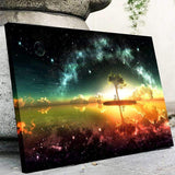 Space, Stars And The Oceans Canvas Art
