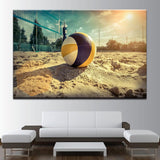 Volleyball Beach And Sand Canvas Art - Mystikz Gaming