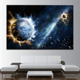 Planets On Fire Canvas Art - Mystikz Gaming