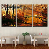 Sunrays Through Trees And A Bridge Canvas Art - Mystikz Gaming