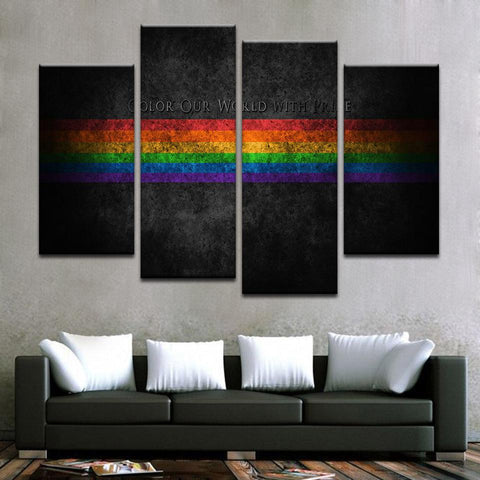 Color Our World With Pride Canvas Art - Mystikz Gaming