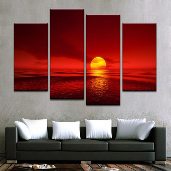 Sunset Over The Horizon Canvas Art - Mystikz Gaming