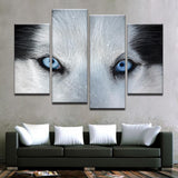 Arctic Wolf Eyes Canvas Art - Mystikz Gaming