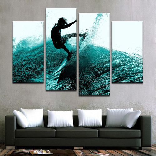 Surfer Canvas Art