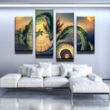 Shenron Summoned Dragon Canvas Art