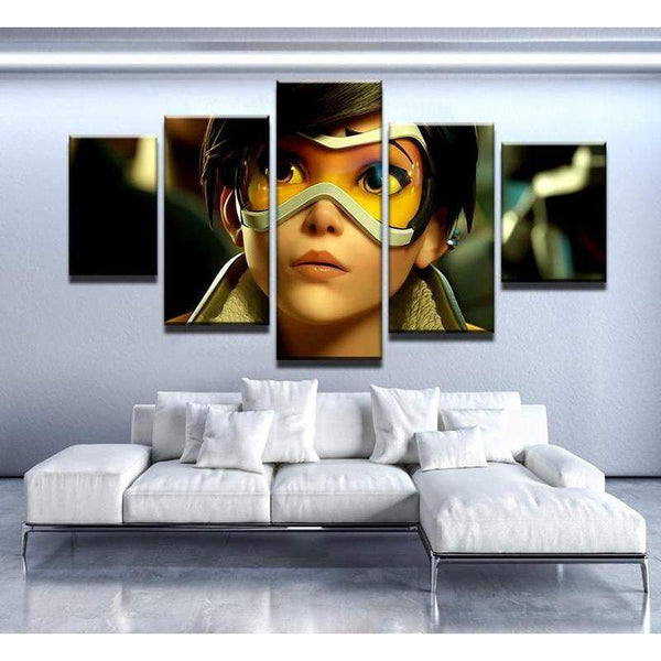 Overwatch Tracer Canvas Art