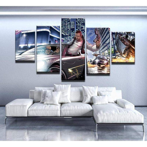 Grand Theft Auto Canvas Art