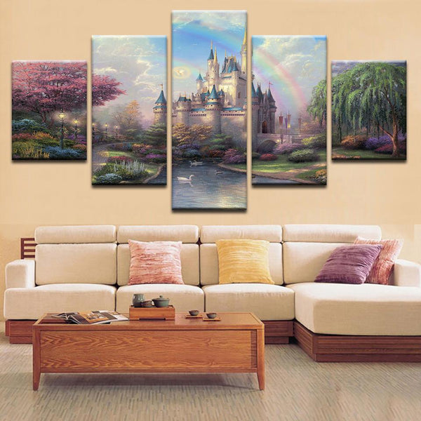 Magical Castle Canvas Art