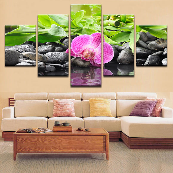 Fallen Purple Orchid Canvas Art - Mystikz Gaming