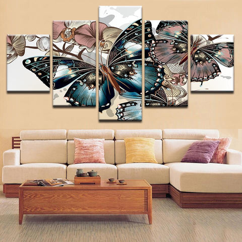 Colourful Abstract Butterfly Canvas Art