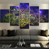 Fortnite Battle Royal Map Canvas Art