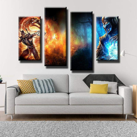 Scorpion Vs. Subzero Canvas Art