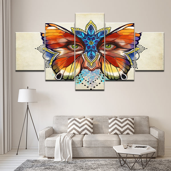 Abstract Colorful Butterfly Flowers Eyes - Mystikz Gaming