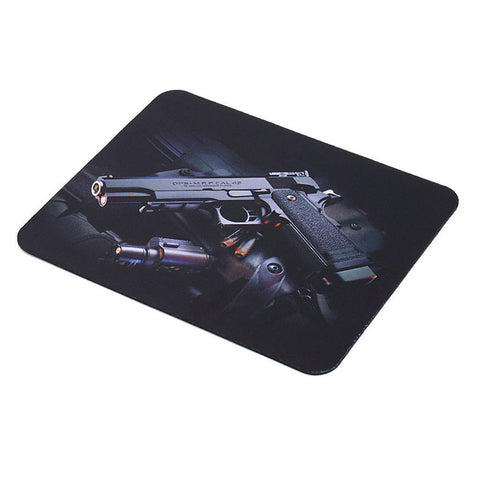 Gun Picture Gaming Mouse Pad