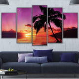 Martinique Sunset Palm Tree Seascape - Mystikz Gaming