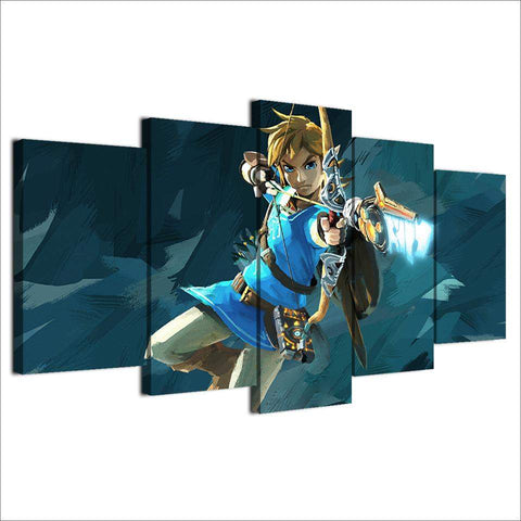 Legend Of Zelda 5 Piece Canvas Art