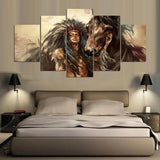 Indian Girl Art Animal Horse And Person - Mystikz Gaming