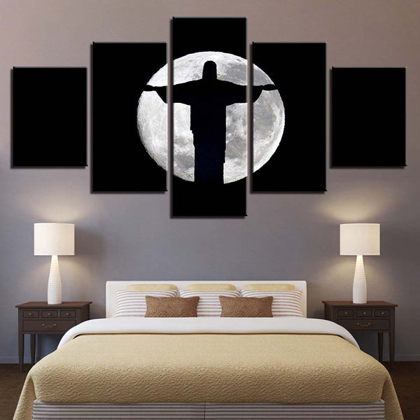 Jesus Christ Moon Shadow Abstract - Mystikz Gaming