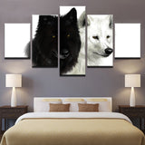 Wolf Couple Black And White Animal - Mystikz Gaming