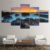 Decors Blue Sea Seaside Reef Sunset Seascape - Mystikz Gaming