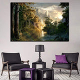 Gondor Castle Lord of the Rings Piece Canvas Art