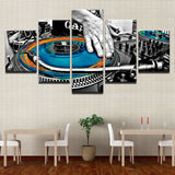 Abstract Hand Plate DJ Music Console Instrument Fabric - Mystikz Gaming