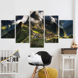 Decor Machu Picchu Peru Mountains Clouds Hills Landscape - Mystikz Gaming