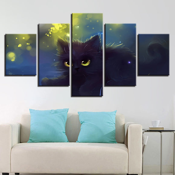 Posters Lovely Big Eyes Black Cat - Mystikz Gaming