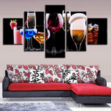 Color Wine Glasses Cocktail Drinks Restaurant Bar - Mystikz Gaming