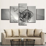 Black And White Glass Rose Flower Home - Mystikz Gaming