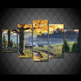 Landscape On The 5 Panels Animal And Tree - Mystikz Gaming