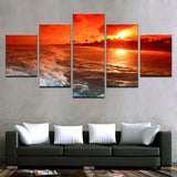 Sunset Glow Tintthe Sky Rbeach Sea Waves Seascape - Mystikz Gaming